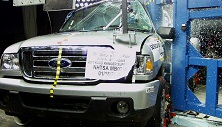 NCAP 2011 Ford Ranger side pole crash test photo