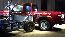 NCAP 2011 Ford Ranger side crash test photo