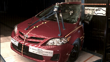 NCAP 2011 Toyota Corolla side pole crash test photo