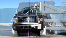 NCAP 2011 Ford F-150 side pole crash test photo