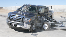 NCAP 2011 Ford F-150 side crash test photo