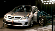 2011 Toyota Corolla 4 DR FWD after side crash test