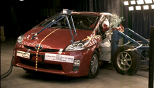 NCAP 2011 Toyota Prius side crash test photo