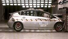 2011 Toyota Prius 4 DR FWD after frontal crash test