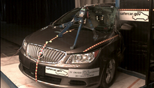 NCAP 2011 Buick LaCrosse side pole crash test photo