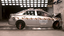 2011 Toyota Corolla 4 DR FWD after frontal crash test