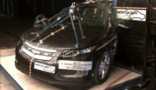 NCAP 2011 Chevrolet Volt side pole crash test photo