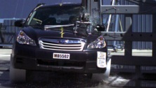NCAP 2012 Subaru Outback side pole crash test photo