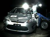 NCAP 2012 Ford Fiesta side crash test photo