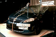 NCAP 2012 Ford Fiesta side pole crash test photo