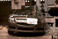 NCAP 2012 Chevrolet Malibu side pole crash test photo
