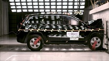 2012 Jeep Grand Cherokee SUV 2WD after frontal crash test