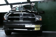 NCAP 2012 Ram 1500 side pole crash test photo