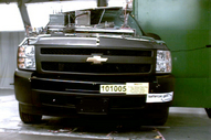 NCAP 2012 Chevrolet Silverado 1500 side pole crash test photo