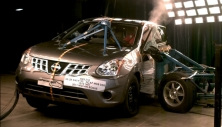 NCAP 2012 Nissan Rogue side crash test photo