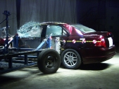 NCAP 2012 Ford Fusion Hybrid side crash test photo