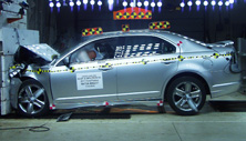 2012 Ford Fusion 4 DR FWD after frontal crash test