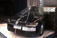 NCAP 2012 Volkswagen Jetta side pole crash test photo