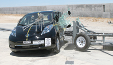 NCAP 2012 Nissan Leaf side crash test photo
