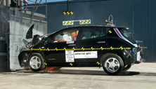 NCAP 2012 Nissan Leaf front crash test photo