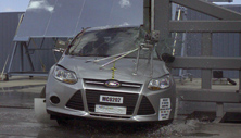 NCAP 2012 Ford Focus side pole crash test photo