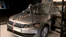 2012 Volkswagen Passat 4 DR FWD after side pole crash test