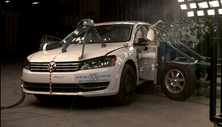2012 Volkswagen Passat 4 DR FWD after side crash test
