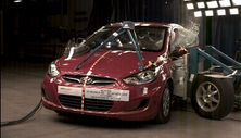 NCAP 2012 Hyundai Accent side crash test photo