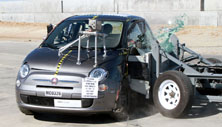 2012 Fiat 500 3 HB FWD Early Release after side crash test