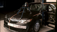 NCAP 2012 Toyota Camry side pole crash test photo