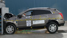NCAP 2012 Cadillac SRX front crash test photo