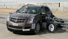 2012 Cadillac SRX SUV AWD after side crash test
