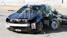 NCAP 2012 Acura TL side crash test photo