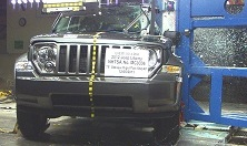 NCAP 2012 Jeep Liberty side pole crash test photo