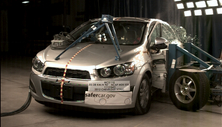 NCAP 2012 Chevrolet Sonic side crash test photo