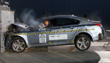 NCAP 2012 Acura TL front crash test photo