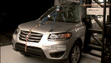 NCAP 2012 Hyundai Santa Fe side pole crash test photo