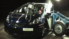 NCAP 2012 Honda Fit side crash test photo