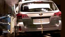 NCAP 2012 Subaru Outback side crash test photo