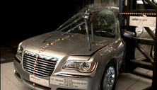 NCAP 2012 Chrysler 300 side pole crash test photo