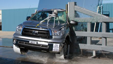 NCAP 2012 Toyota Tundra side pole crash test photo