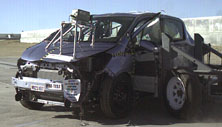 NCAP 2012 Toyota Yaris side crash test photo