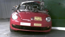 NCAP 2012 Volkswagen Beetle side pole crash test photo