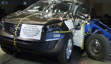 NCAP 2012 Kia Sportage side crash test photo