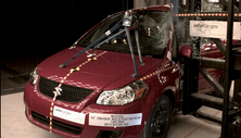 NCAP 2012 Suzuki SX4 side pole crash test photo