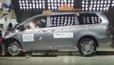 2012 Toyota Sienna VAN FWD after frontal crash test