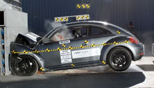 NCAP 2012 Volkswagen Beetle front crash test photo