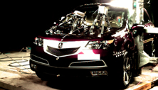 NCAP 2012 Acura MDX side pole crash test photo