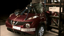 NCAP 2012 Nissan Juke side pole crash test photo