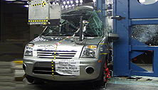 NCAP 2012 Ford Transit Connect side pole crash test photo